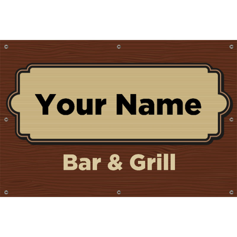 Bar and Grill -  Vinyl Banner 36x24
