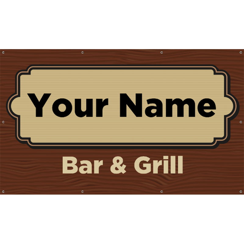 Bar and Grill 1 -  Vinyl Banner 60x36