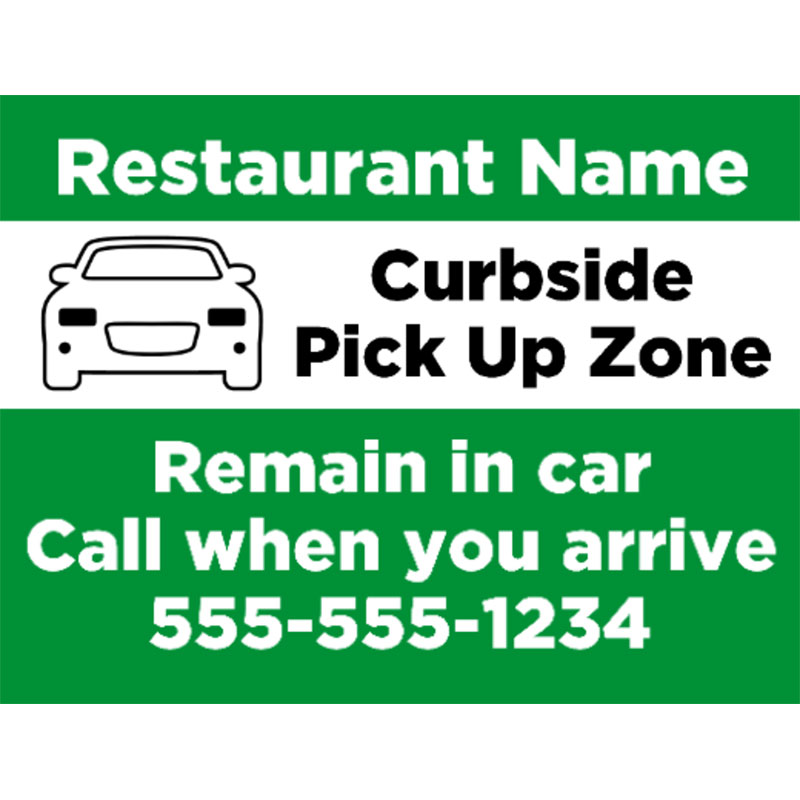 Curbside Pick Up 1 -  Yard signs 18x24