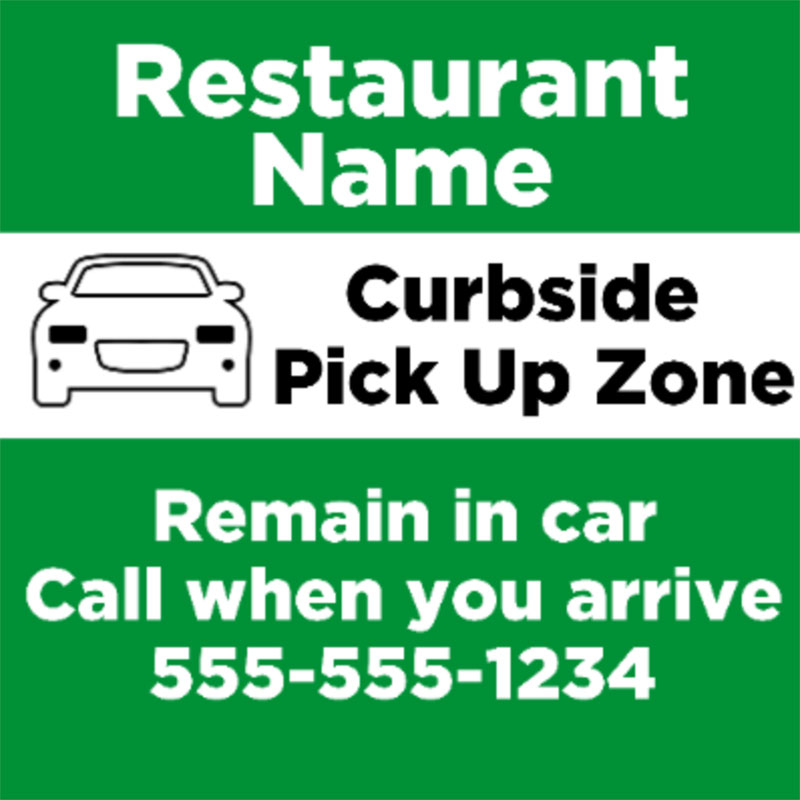 Curbside Pick Up 1 -  Yard signs 24x24