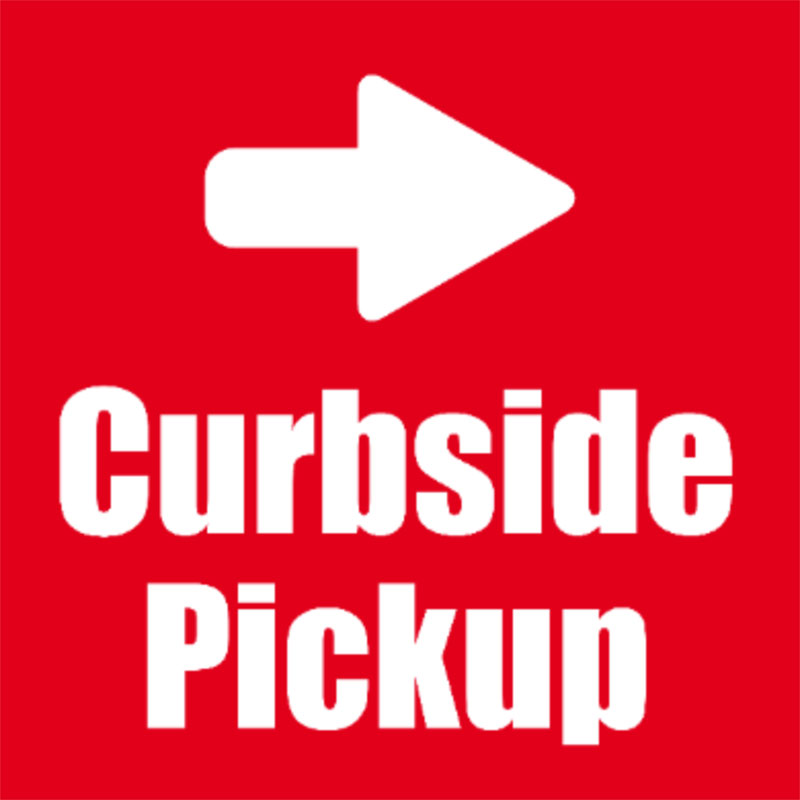 Curbside Pickup - Arrow is Moveable - 24x24 Yard Sign