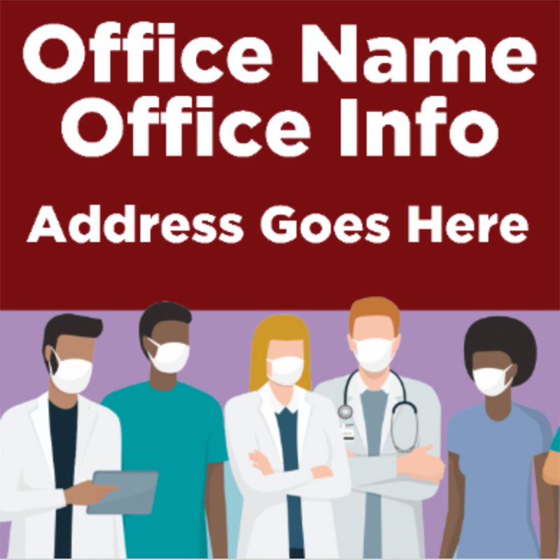 Doctor Office - 24x24 Yard Sign