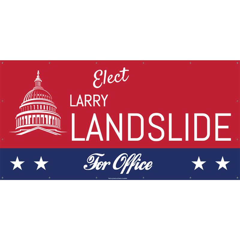 Elect Classic Red - 48x96 Banner