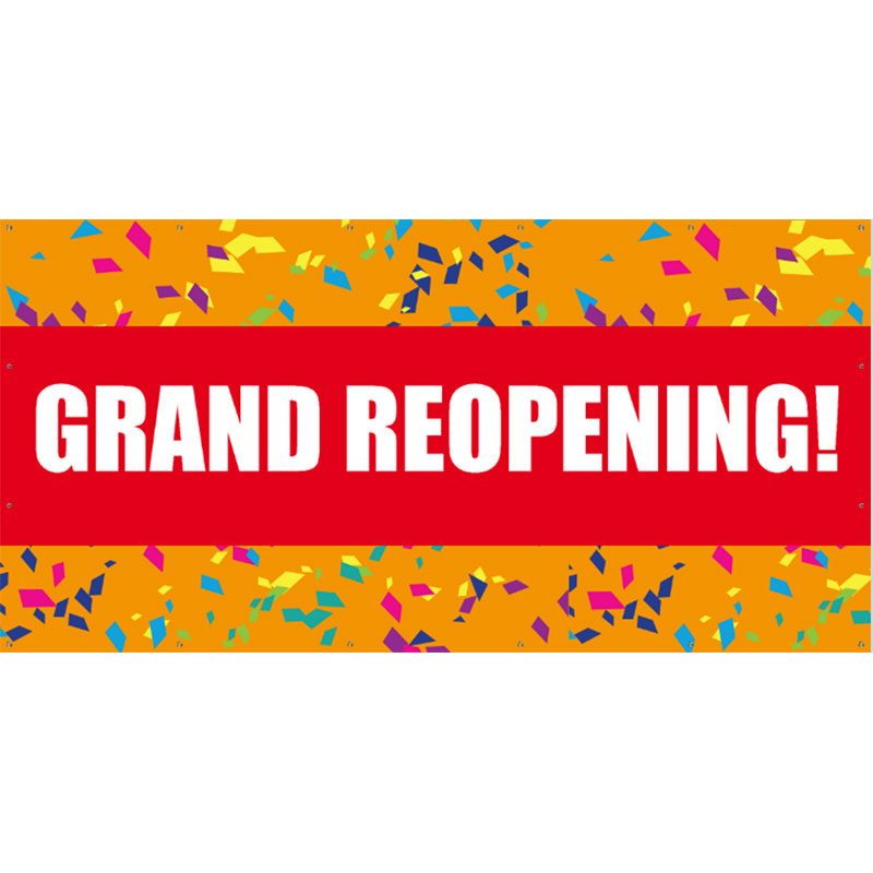 Grand Reopening - 48x96 Banner