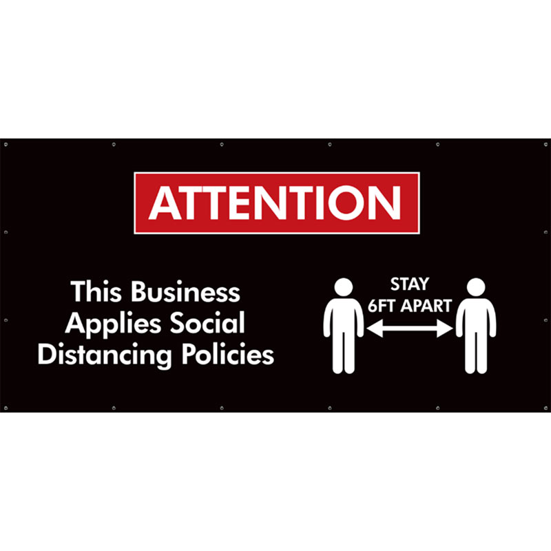 Social Distance - 48x96 Banner - Covid