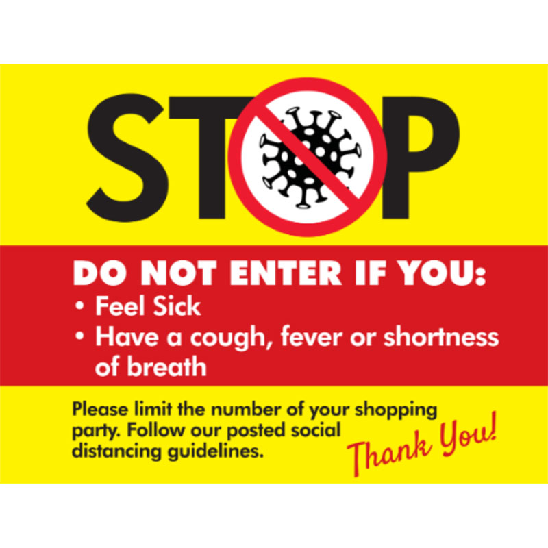 Stop the Spread - 18x24 Yard Sign - Covid