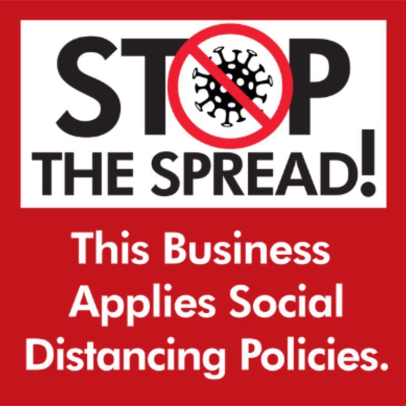 Stop the Spread 2 - 24x24 Yard Sign - Covid
