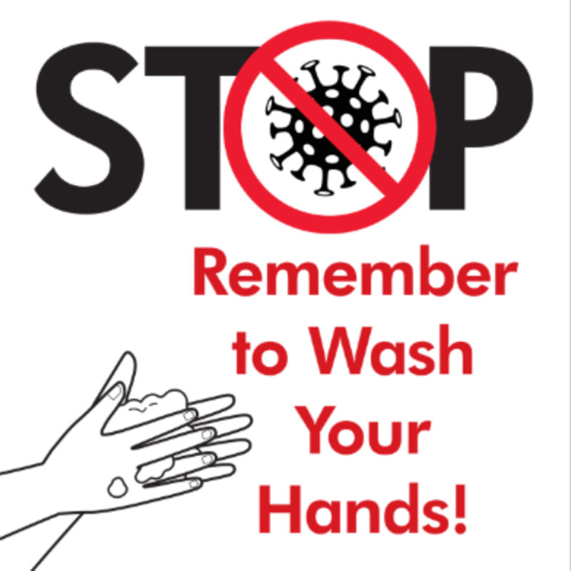 Stop Wash Hands - 24x24 Yard Sign - Covid